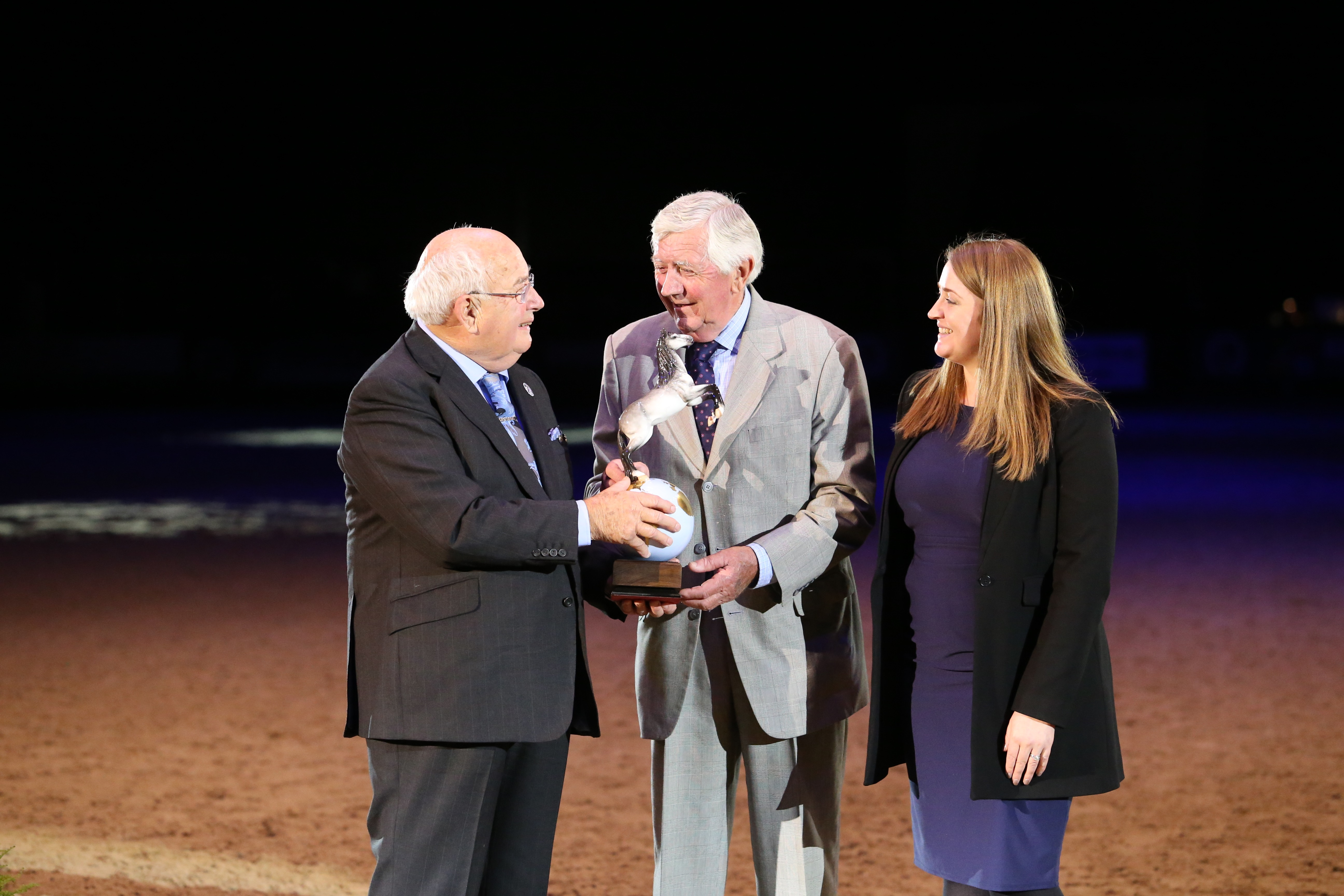 Oliver Double at HOYS:  Robert Oliver is named the 70th Anniversary HOYS Equestrian of the Year while Claire brings home the Middleweight Hunter Championship!